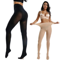 240lbs Plus Size Women Lady Warm Pantyhose Socks Stirrup/Footed Stockings Tights-tights-Metelam