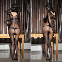 Metelam 1 Denier Women Ultra Thin Sexy Sheer Oil Shiny Glossy Bodysuit Nylon Full Bodystocking-Bodysuit-Metelam