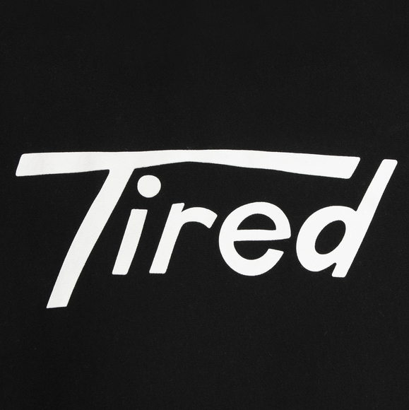 Hooded Tired Logo Sweatshirt (Black)