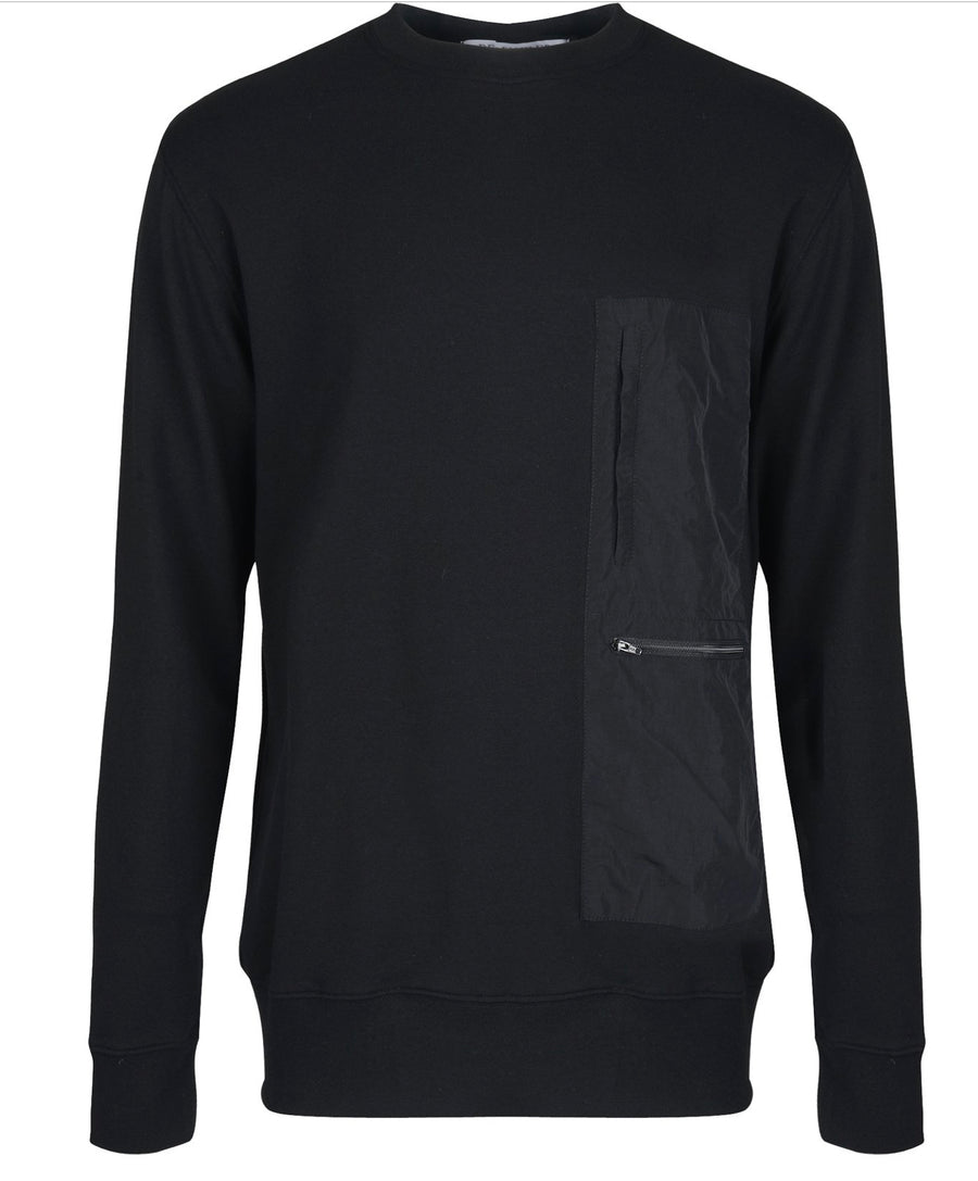 Dear Miler Nylon Pocket Blocked Sweatshirt