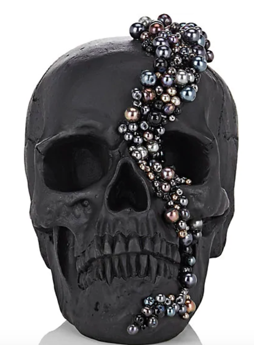 Lisa Carrier Pearl Embellished Resin Skull