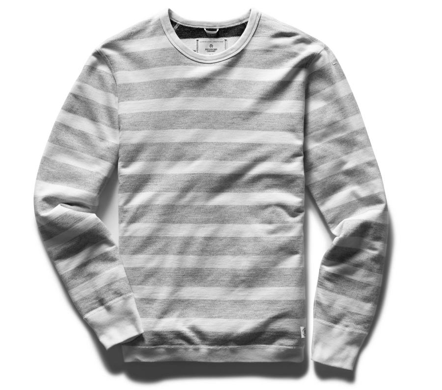 Reigning Champ Stripped Terry Crewneck