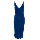 AQC Olive Lagos Blue Slip Dress