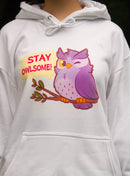 Stay Owlsome Hoodie (White)