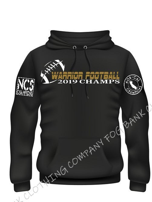 FOG BANK 2019 WARRIOR FOOTBALL CHAMPS HOODIES