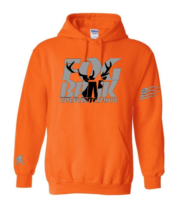 Fog Bank Stag hoodie in Orange,  gold, camo