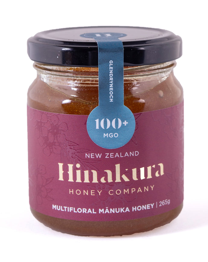 Hinakura Honey - Glendryneoch 100+ MGO Multifloral Manuka Honey Natural  (265g)