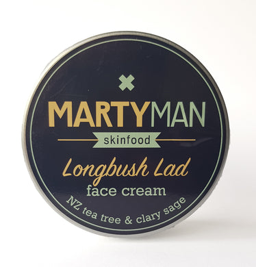 Marty Girl - Longbush Lad Face Cream NZ Tea Tree & Clary Sage (100ml)