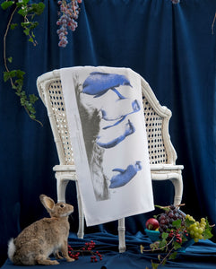 Wild Grey Fox - Little Blue Penguins Organic Cotton Tea Towel