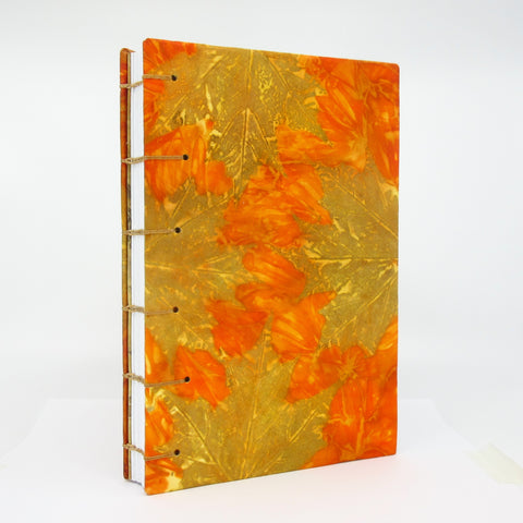 Autumn Blaze Ecoprinted Journal or Sketchbook