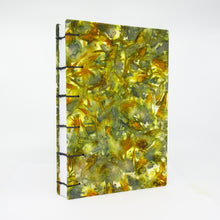 Load image into Gallery viewer, Fall Flowers Ecoprinted Journal or Sketchbook