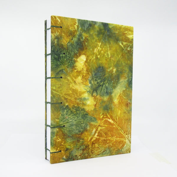 Golden Maple Ecoprinted Journal or Sketchbook