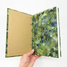 Load image into Gallery viewer, Shades of Blue Ecoprinted Journal or Sketchbook