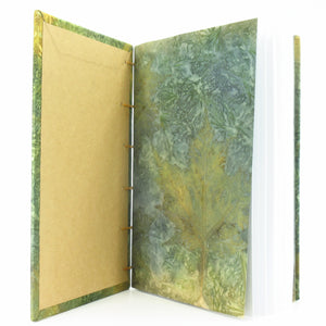 Blue Maple Ecoprinted Journal or Sketchbook