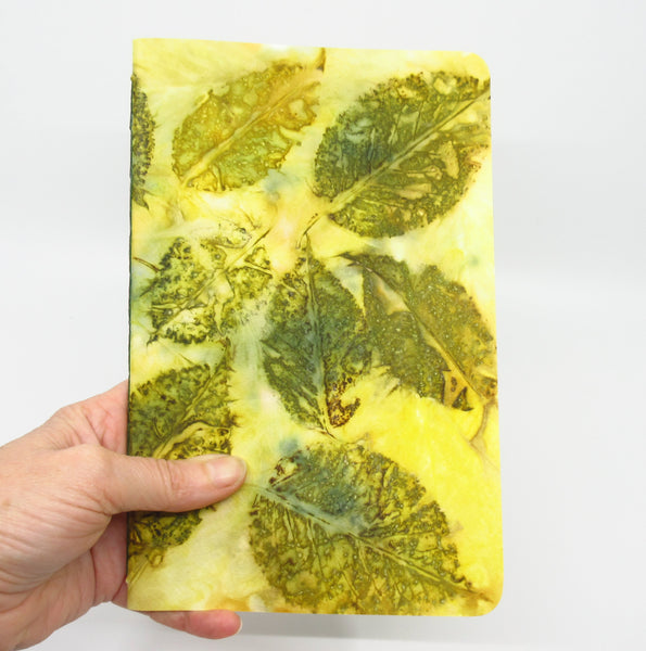 Laneway Leaves Ecoprinted Notebook