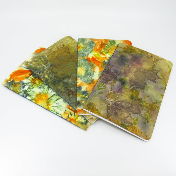 Cosmos Capers Ecoprinted Notebook