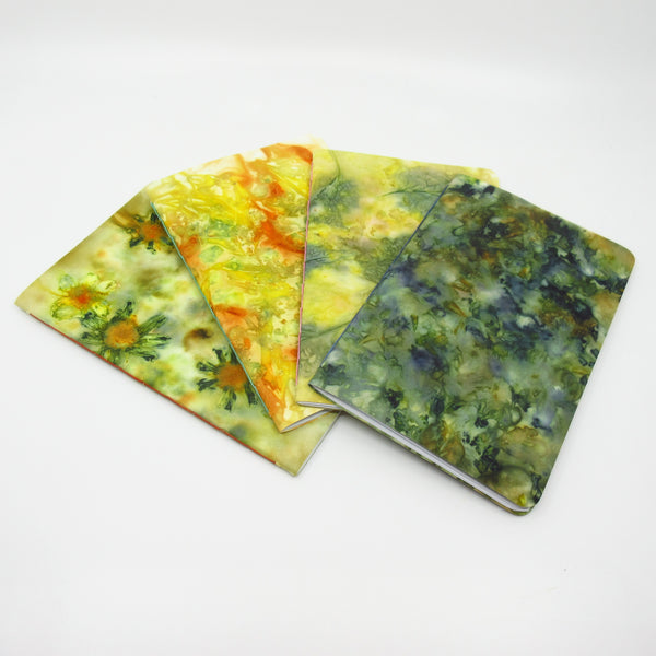 Colourful Coleus Ecoprinted Notebook