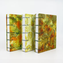 Load image into Gallery viewer, Greenhouse Eucalyptus Pocket Ecoprinted Journal or Sketchbook