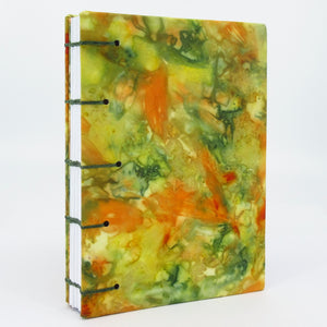 Handcrafted ecoprinted blank journal