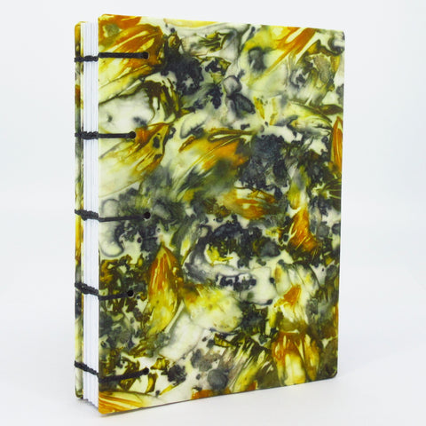 Rudbeckia Revelry Pocket Ecoprinted Journal or Sketchbook