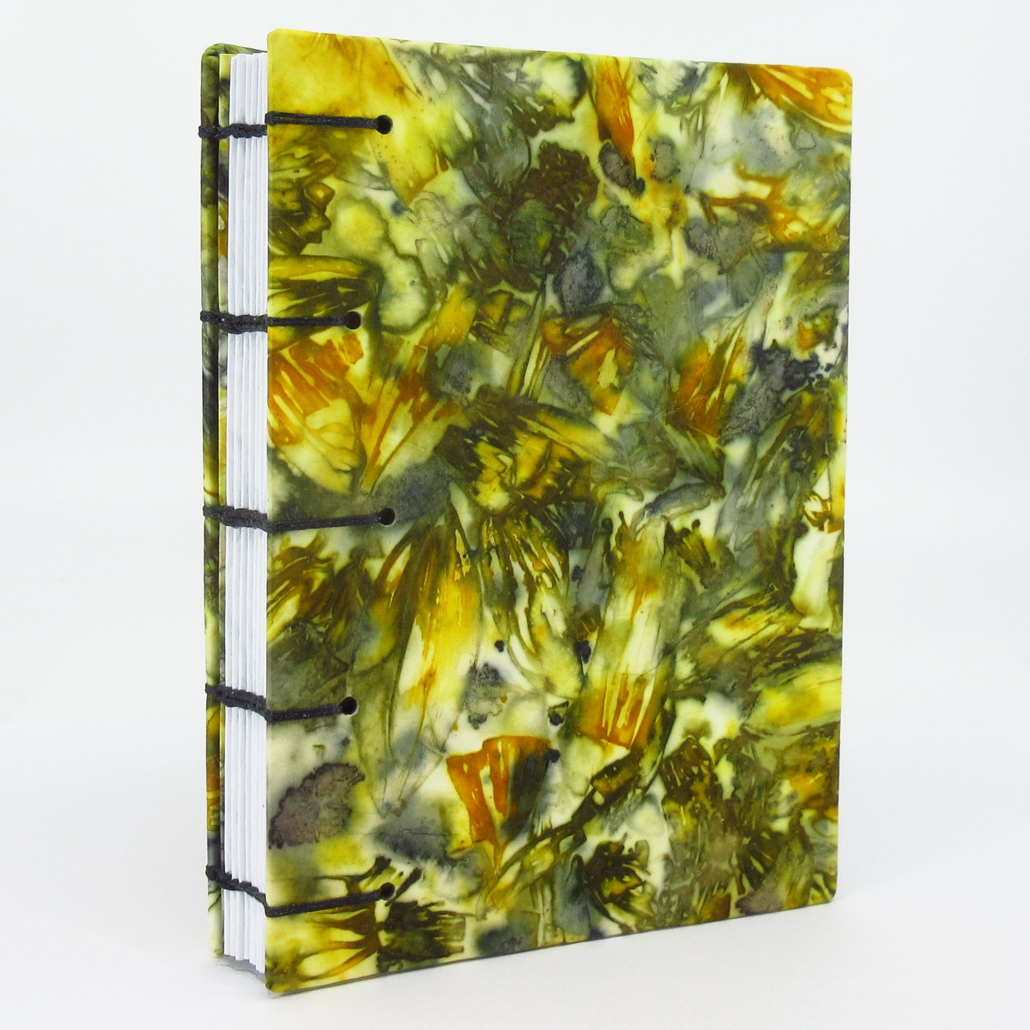 Rudbeckia Riot Pocket Ecoprinted Journal or Sketchbook