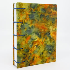 Autumn Splendour Pocket Ecoprinted Journal or Sketchbook