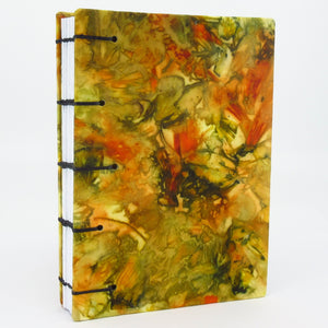 Thanksgiving Pocket Ecoprinted Journal or Sketchbook