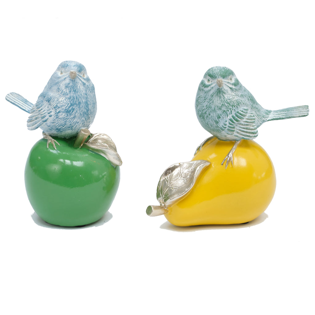Birds on Coloured Fruit (pair)