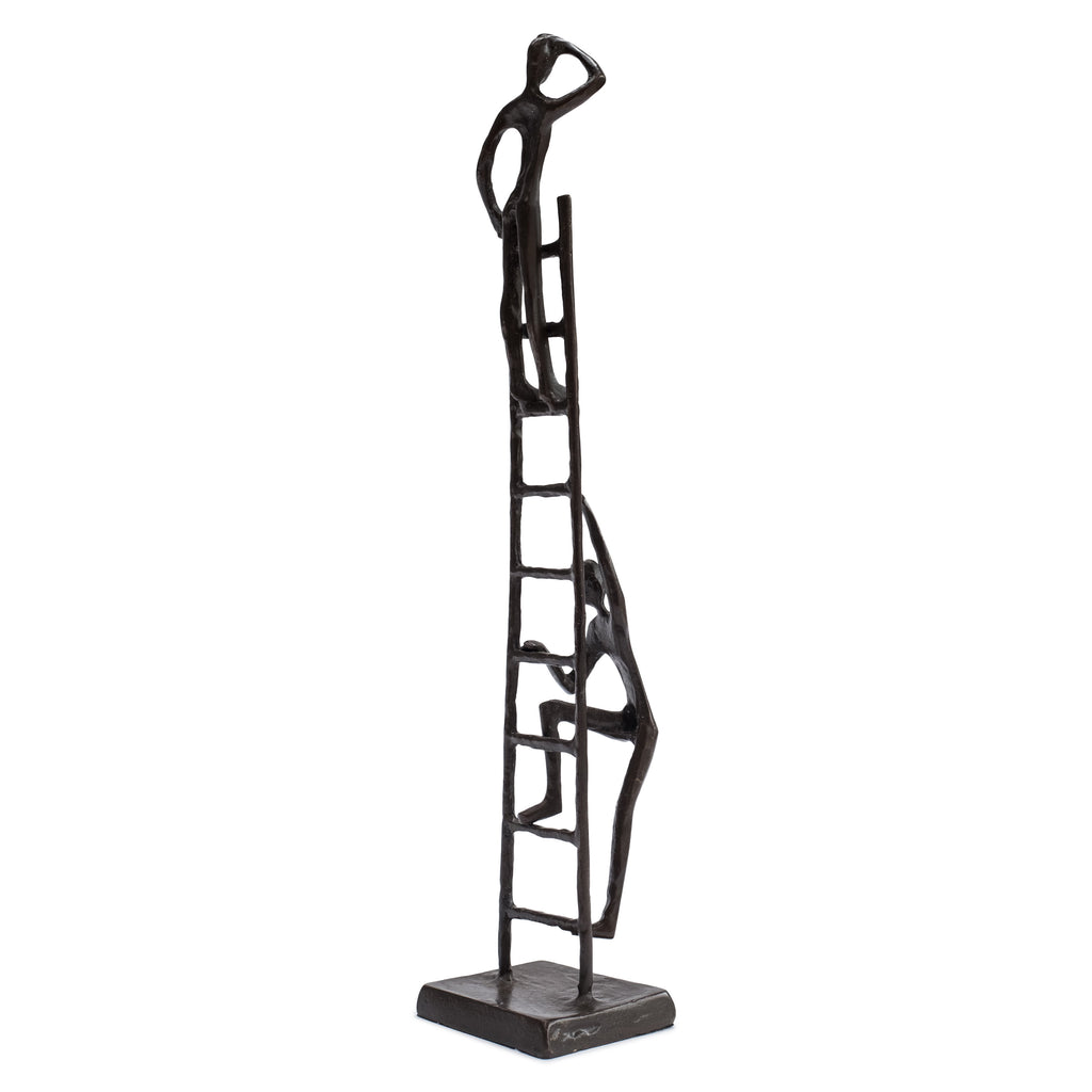 "Solid Bronze Sculpture - ""The Corporate Ladder"""