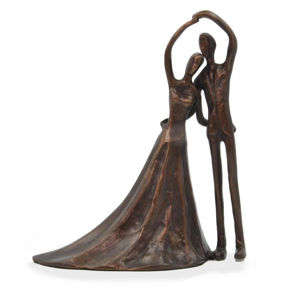 Solid Bronze Sculpture - Bride and Groom