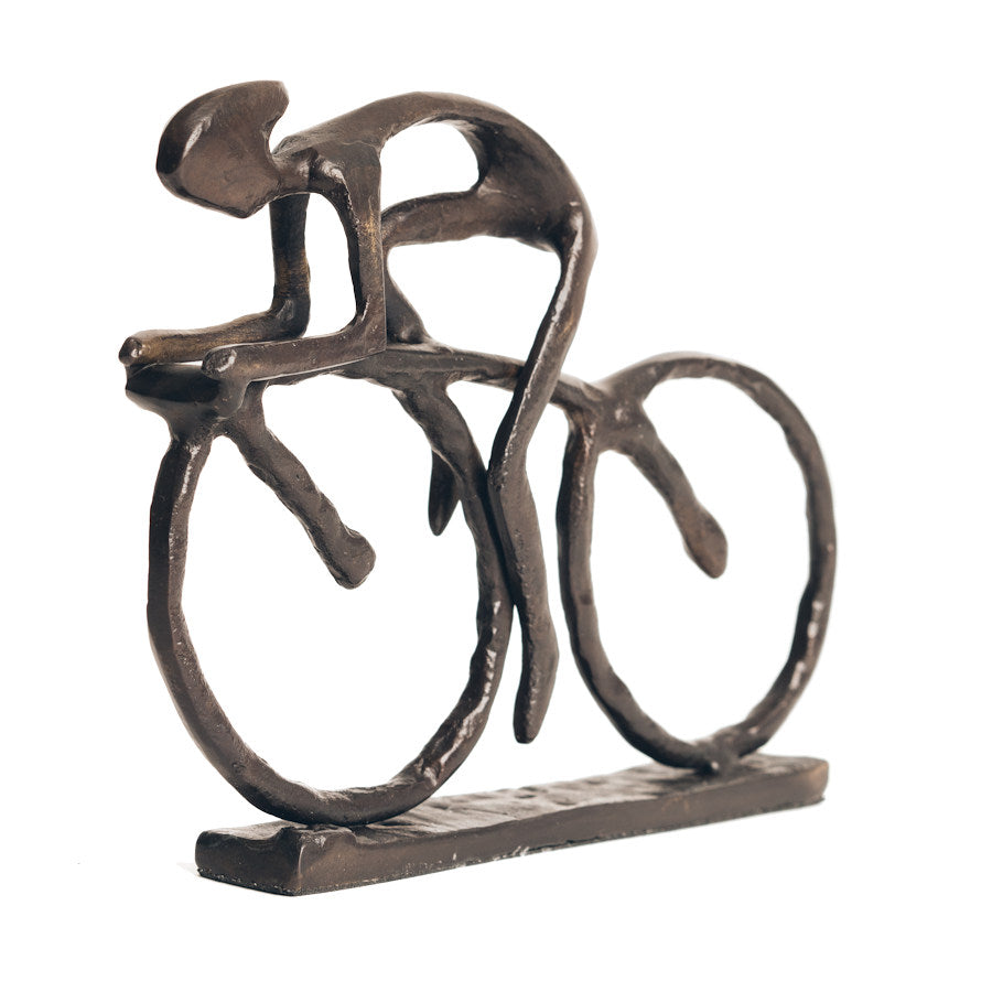 Solid Bronze Sculpture - Cyclist