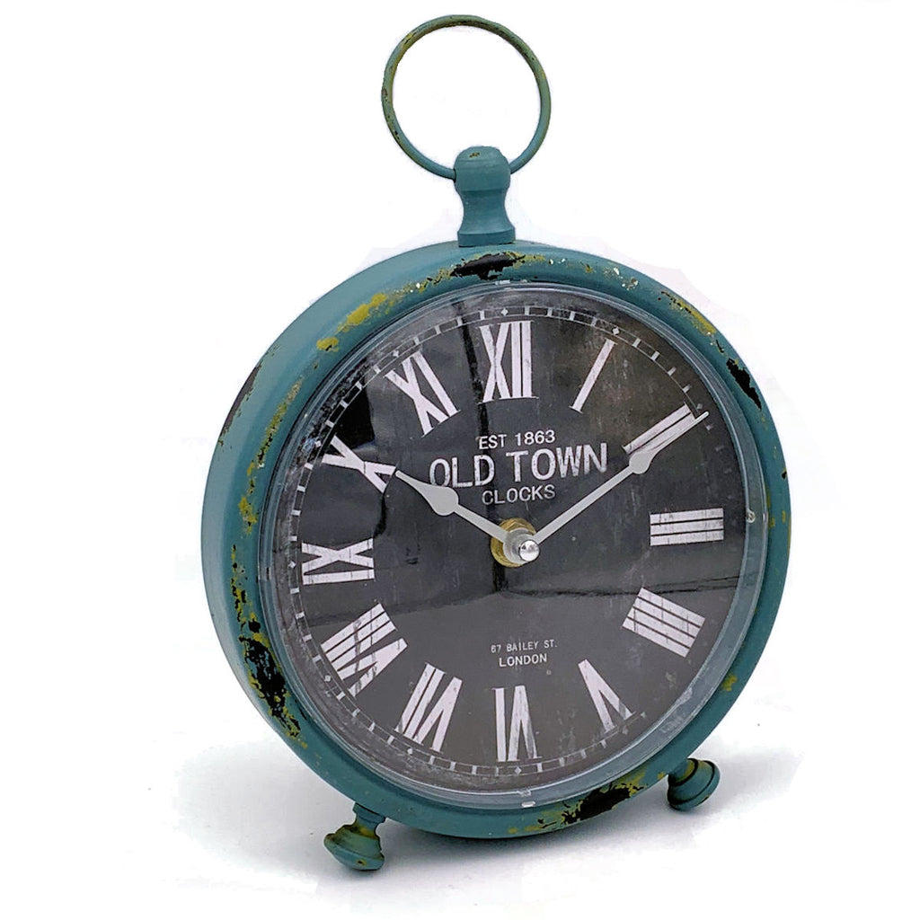 Blue Old Town Clock