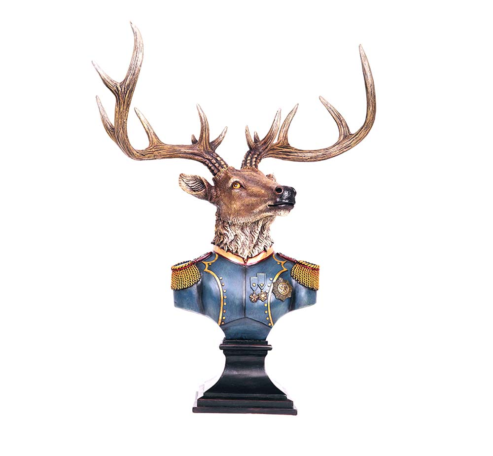 Napoleon Stags Head Bust