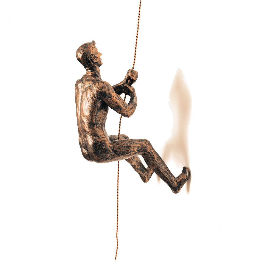 Copper Abseiling Man