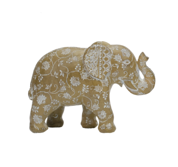 Elephant Figurine Patterned