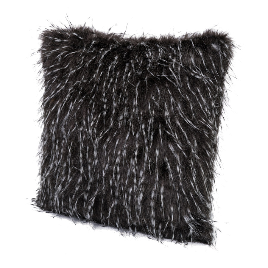 Faux Fur Cushion - Emu Feather Effect