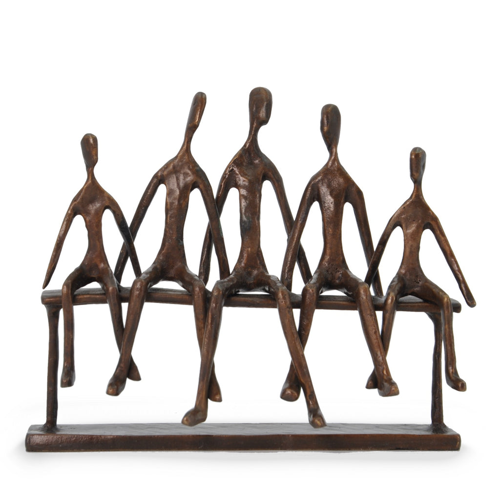 Solid Bronze Sculpture - Family of Five