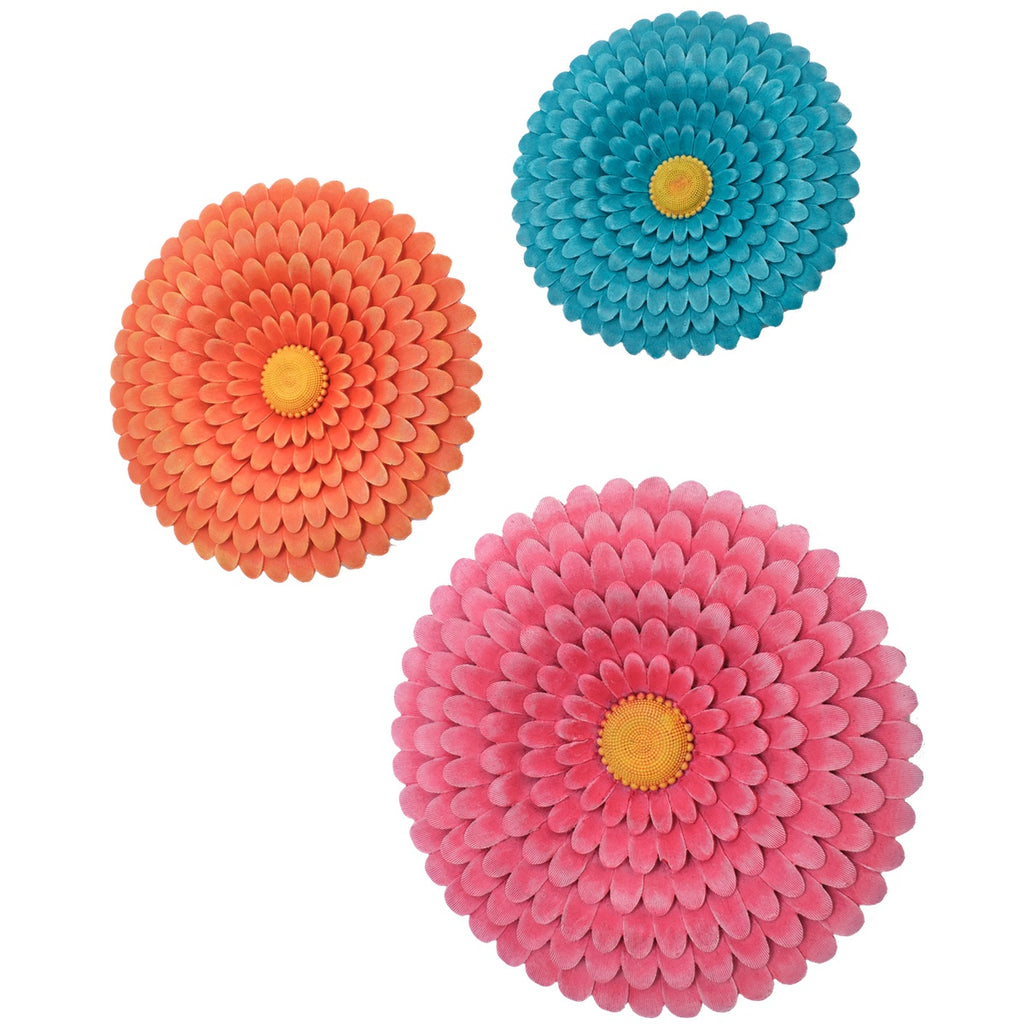 Flower Wall Plates (Set of 3)