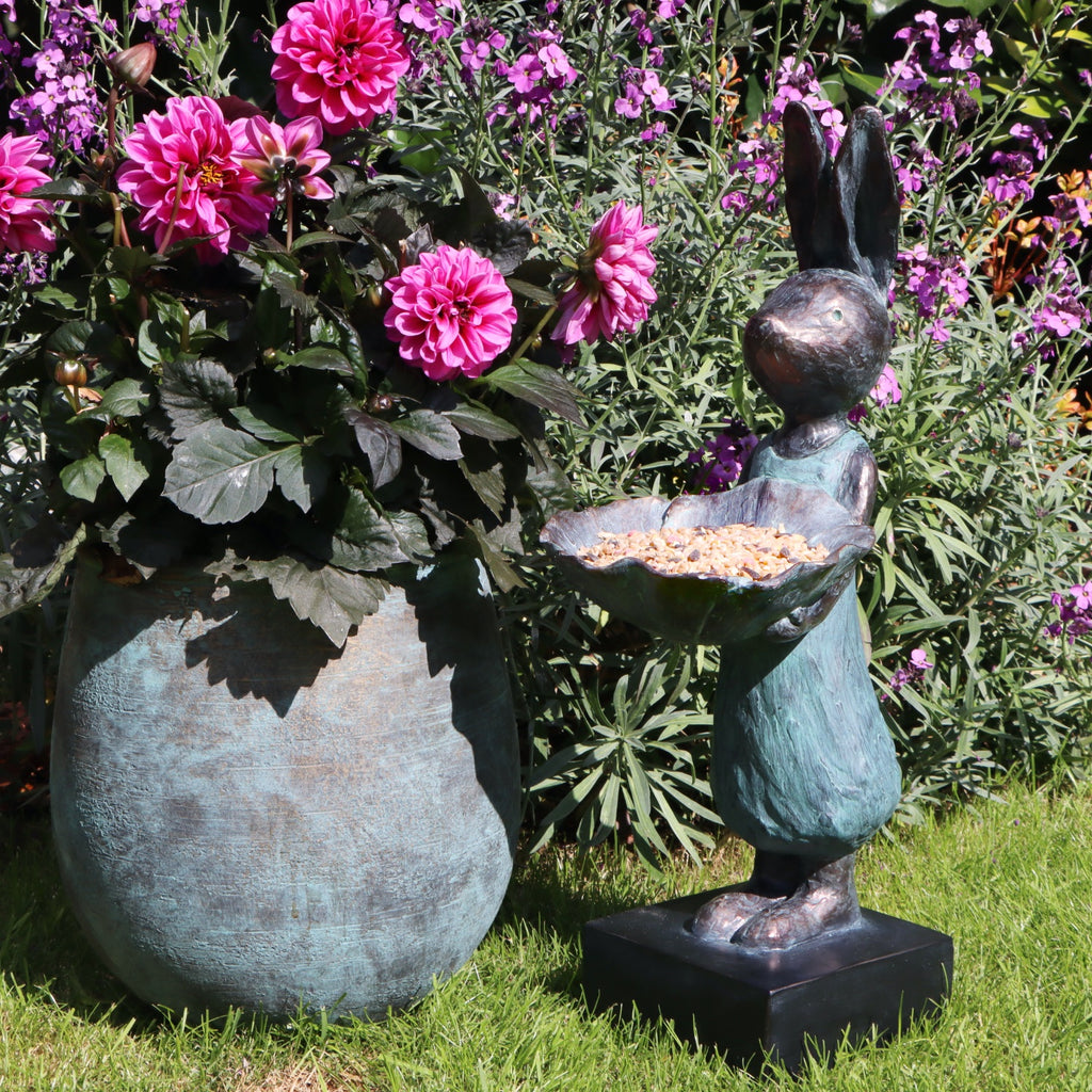 Garden Rabbit Bird Feeder/Bath