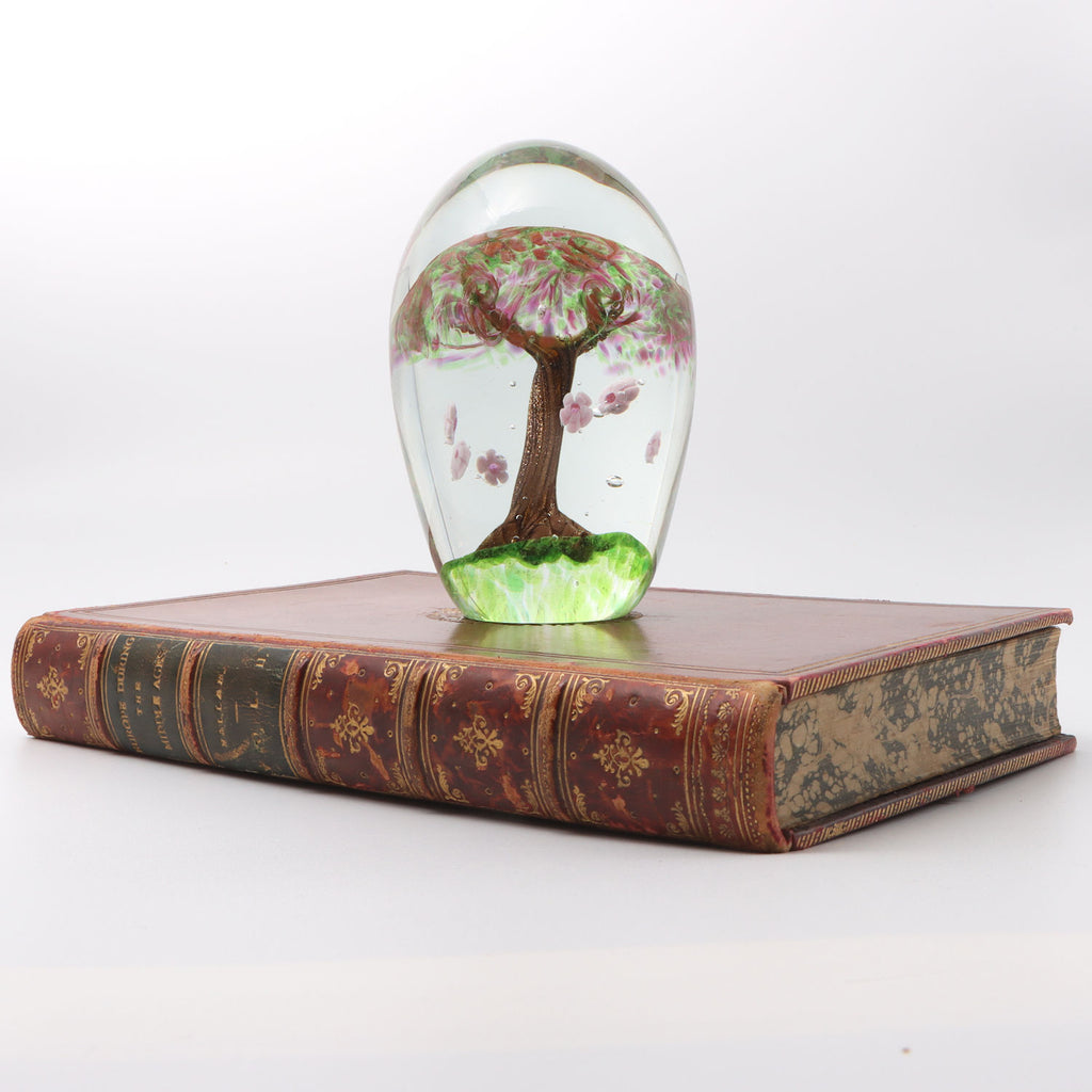 Glass Tree Paperweight