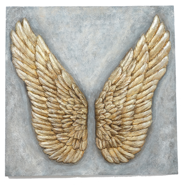 Gold Angel Wing Plaque