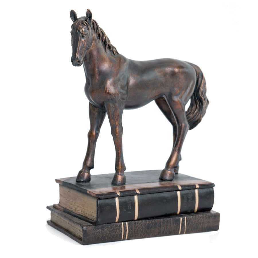 Horse Standing on Book Box