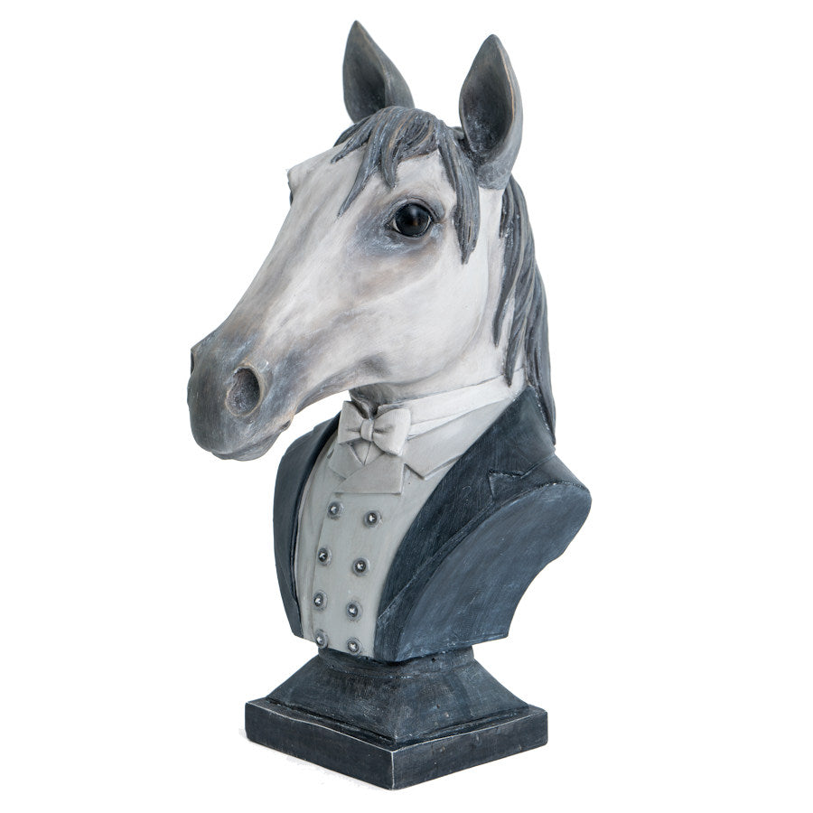 Dressed Horse Head Sculpture