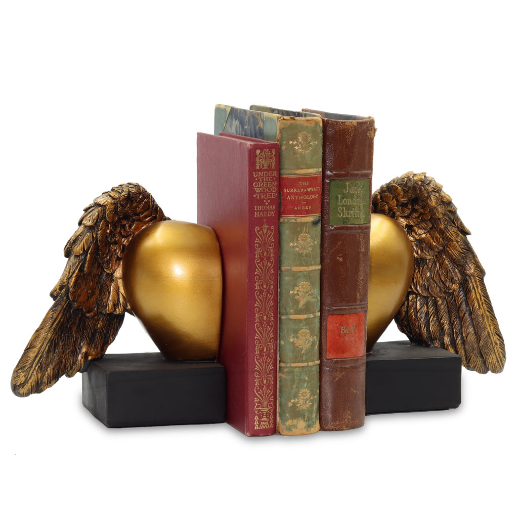 Heart Wing Bookends