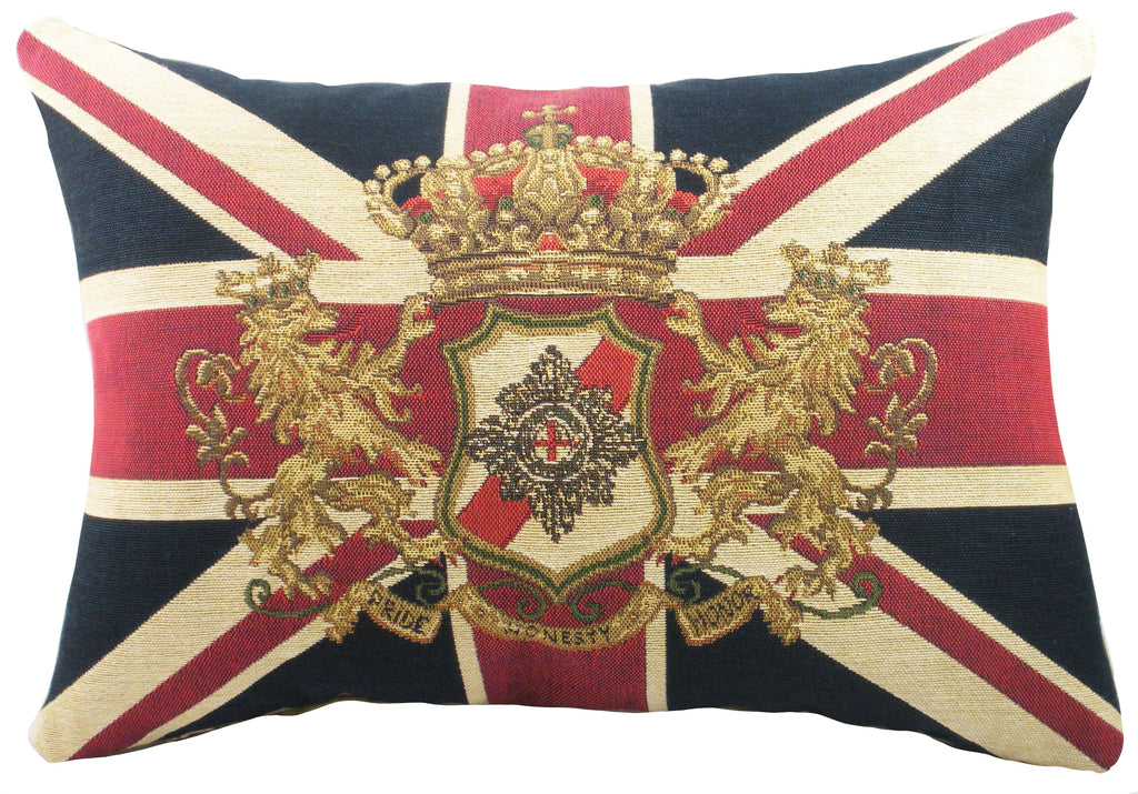 Union Jack Lion Tapestry Cushion