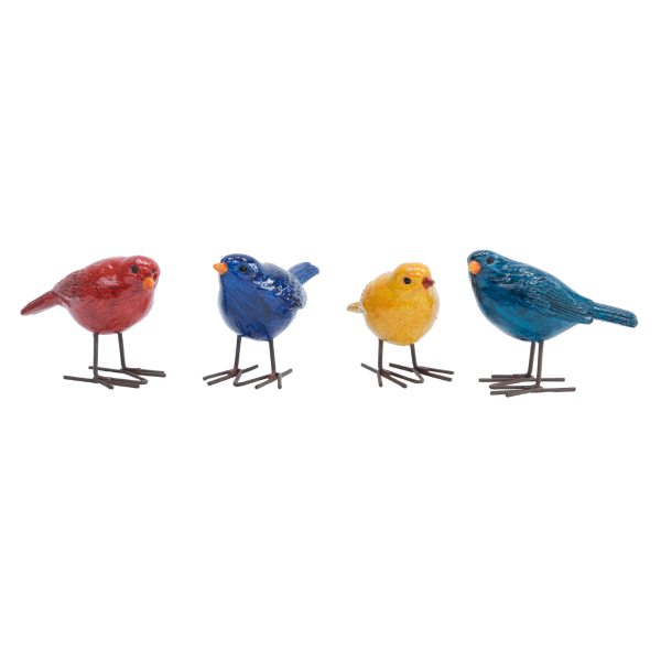 Set of Four of Small Birds