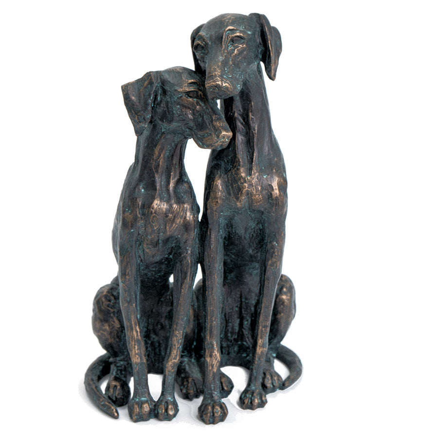 Loving Dogs Bronze Colour Sculpture
