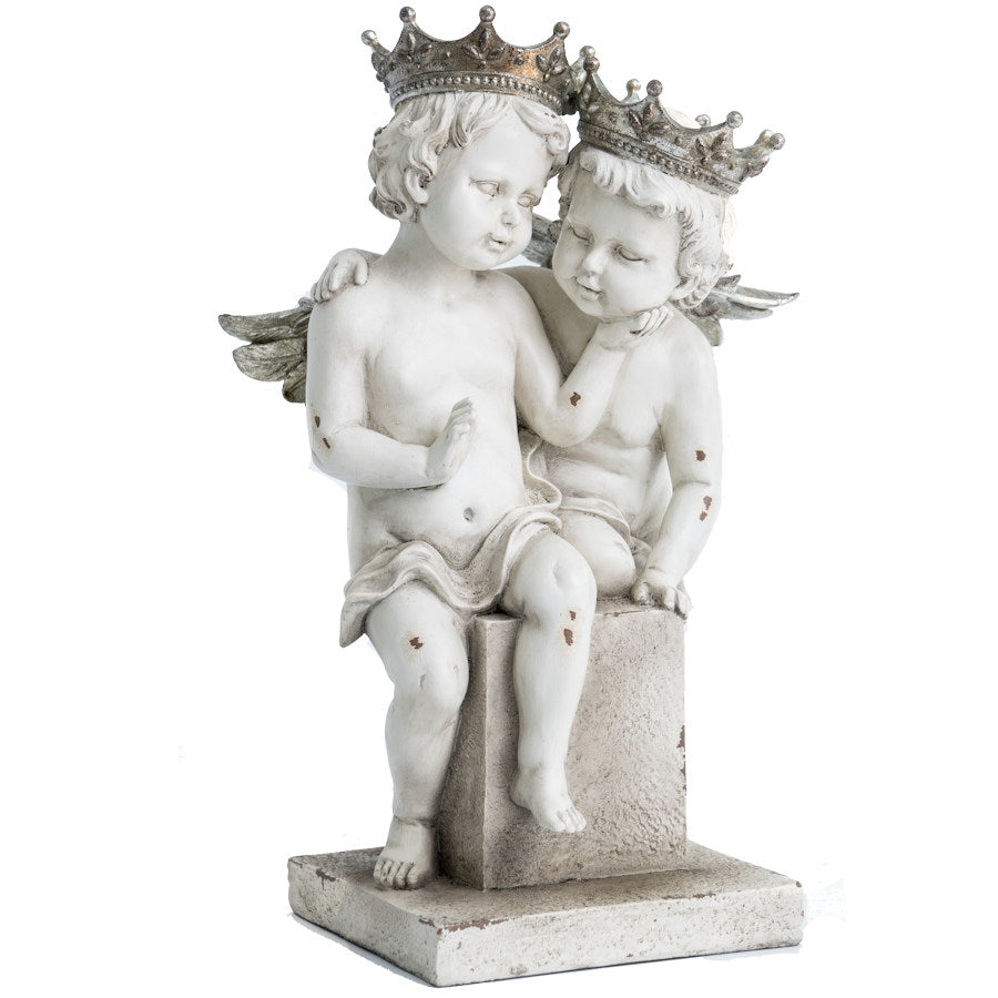 Two Cherub Angels Statue
