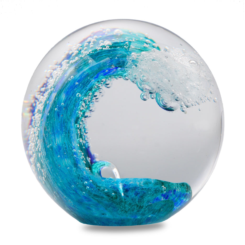 Wave Glass Paperweight