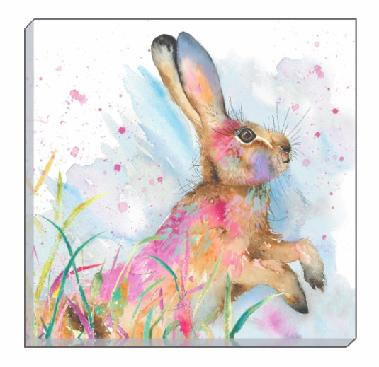 Artistic Animals Profile Hare Canvas Wall Art